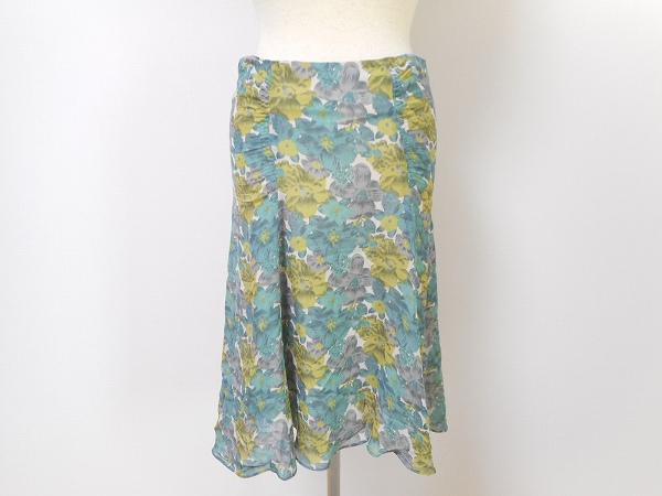 ジョセフ シルク花柄スカート