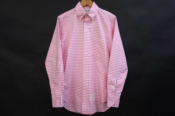 トムブラウン 長袖ボタンダウンシャツ