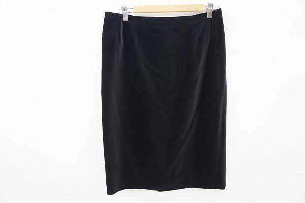 トクコ 膝丈ベロアタイトスカート