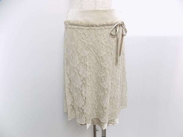 デュアルビュー シルクレーススカート