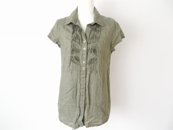 ドゥクラッセ 麻半袖チュニックシャツ