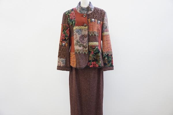 ノンノンドール パッチワークスカートスーツ