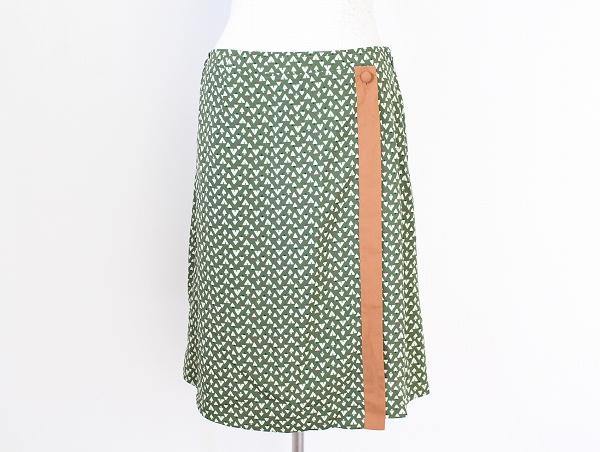 ローラアシュレイ 総柄膝丈スカート