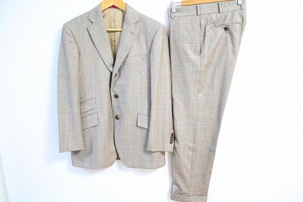 ダンヒル製生地 チェック柄スーツ S3B