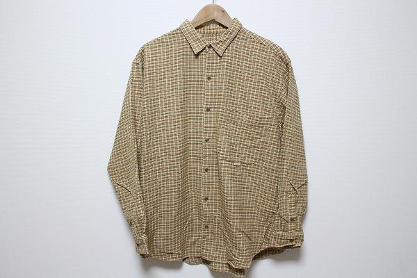 パパス コットンチェックシャツ