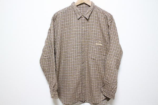 パパス 長袖チェックシャツ