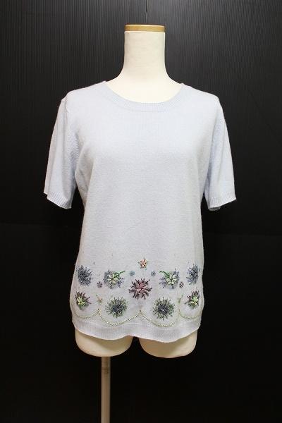エレガンス シルク混半袖セーター
