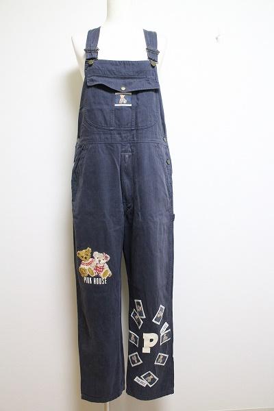 ピンクハウス クマ刺繍サロペット