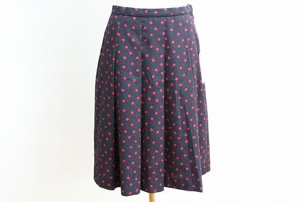 ハロッズ ドット柄スカート