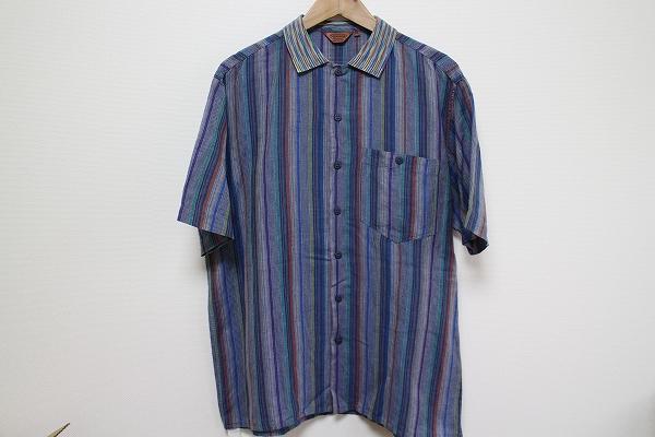 ミッソーニ ストライプ半袖シャツ