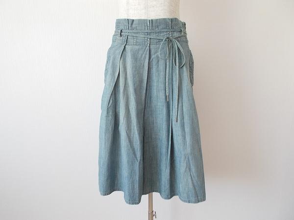 エンポリオアルマーニ ウエストリボン付きスカート