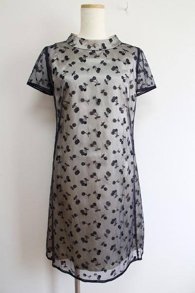 コージワタナベ レースサクランボ刺繍ワンピース