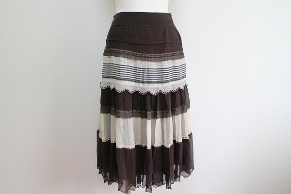 ヒロココシノ シルクフレアースカート