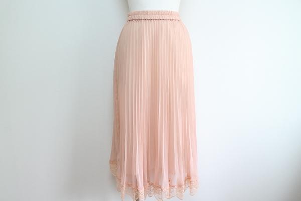 シズカコムロ4298 裾レースプリーツスカート