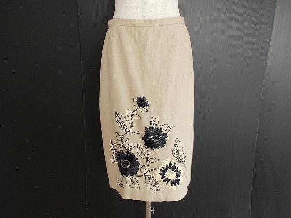 ユキトリイ 刺繍タイトスカート
