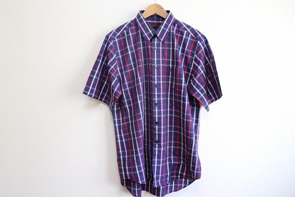 ロベルタディカメリーノ チェック半袖シャツ
