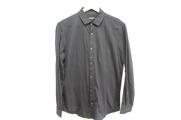 バーバリーブラックレーベル 刺繍長袖シャツ