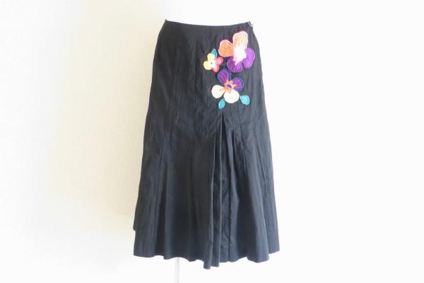 ソニアリキエル 花刺繍フレアスカート