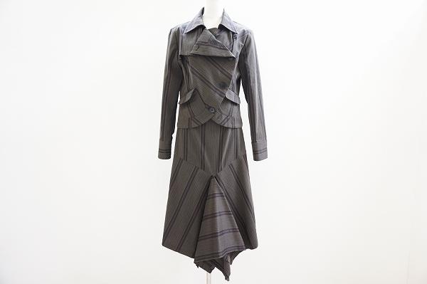 ケイコキシ ストライプスカートスーツ