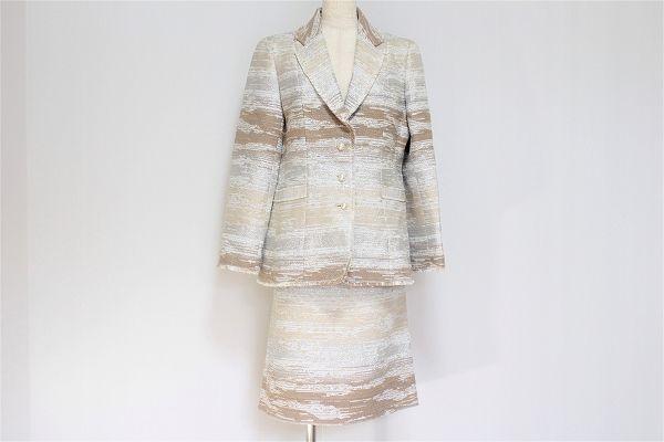 銀座マギー ラメスカートスーツ
