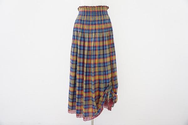 ジウセンソユニコ チェックロングスカート