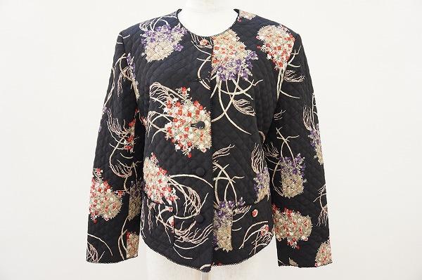 カネコイサオ 花柄キルティングジャケット
