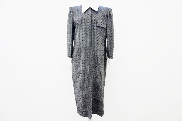 ハナエモリ 襟付き長袖ワンピース