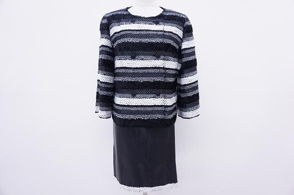 銀座マギー フェイクレザースカートスーツ