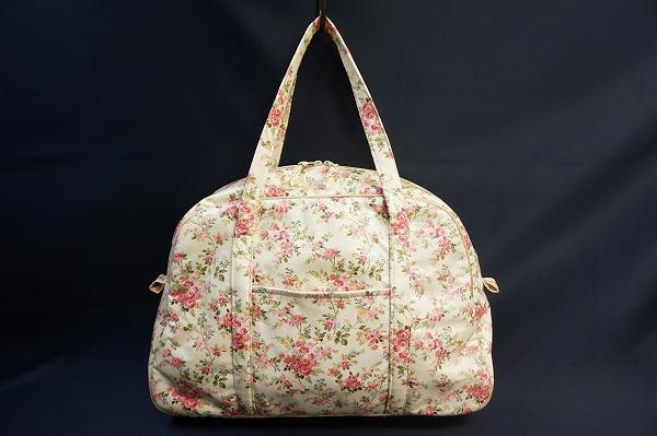 バラ色の暮し 小花柄ボストンバッグ