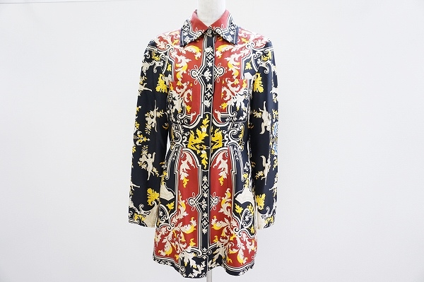 エトロ シルク長袖シャツ