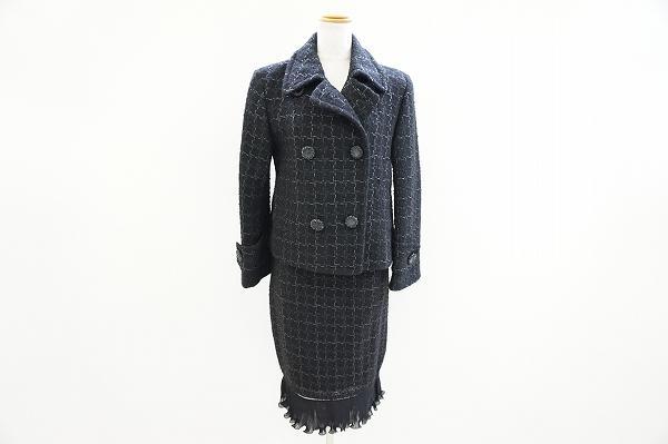 ウンガロフューシャ ツイードスカートスーツ