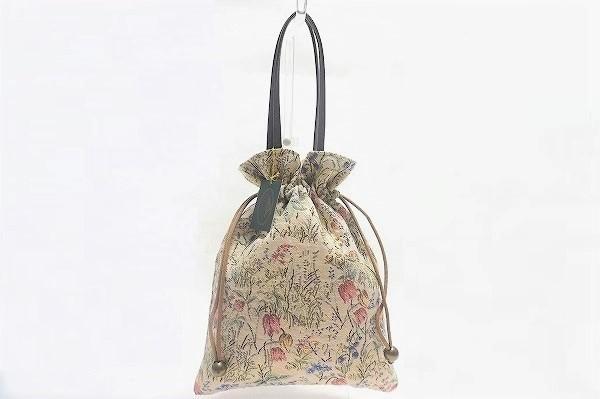 バラ色の暮し 巾着バッグ