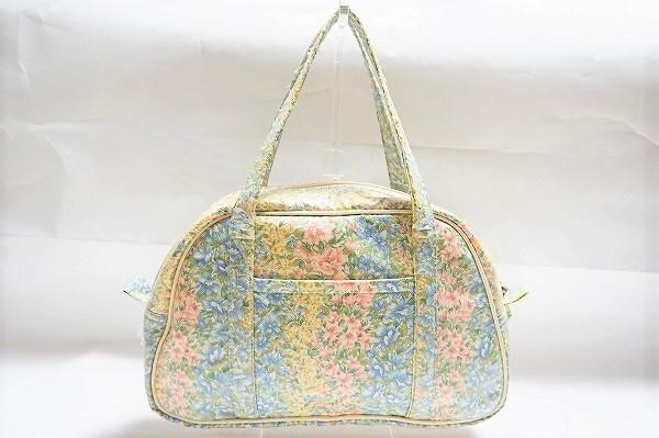 バラ色の暮し 花柄ボストンバッグ