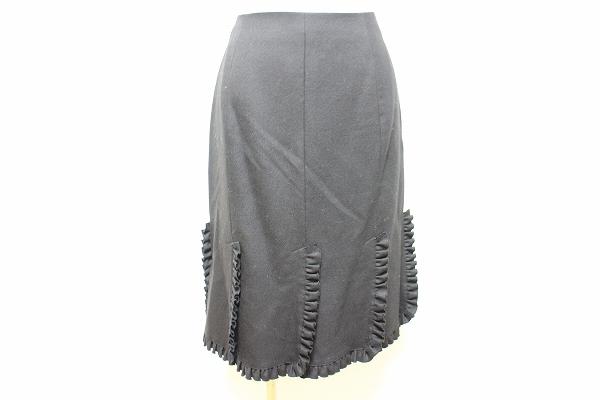 マダムジョコンダ スリット入りウールスカート
