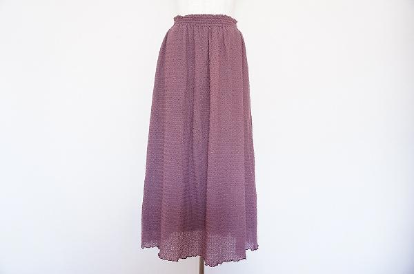 バラ色の暮し ロングスカート