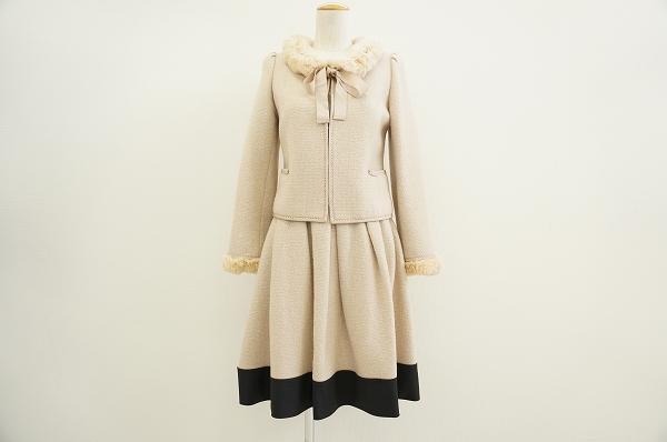 トゥービーシック ツイードスカートスーツ