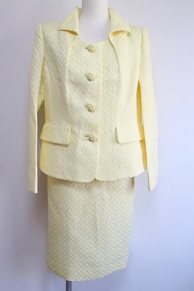 銀座マギー シルク混スカートスーツ