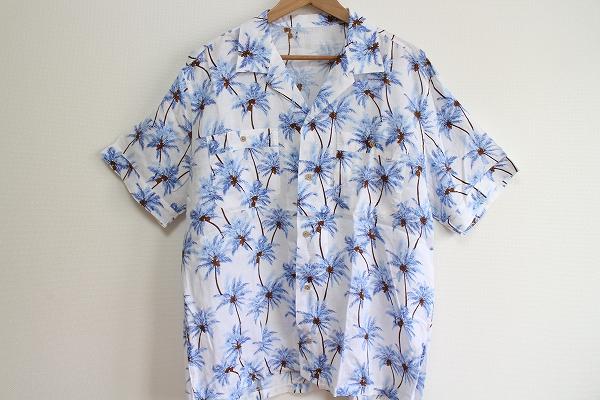 パパスアイランド ヤシの木柄アロハシャツ