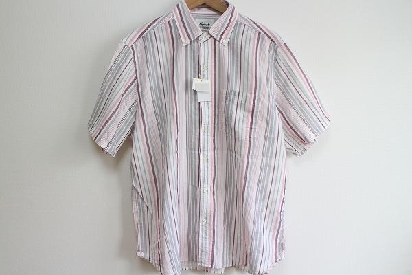 パパス ボタンダウン半袖シャツ
