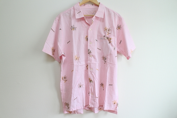 パパス ロゴ刺繍アロハシャツ