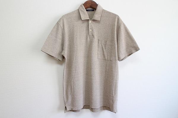 エルメネジルドゼニア 麻混半袖ポロシャツ