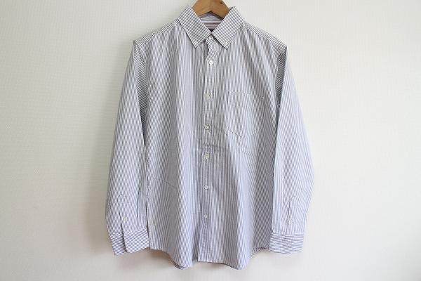 シップス ストライプコットン長袖シャツ