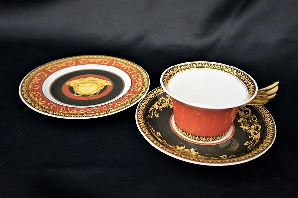 ローゼンタール×ヴェルサーチ カップ&ソーサー+ケーキ皿
