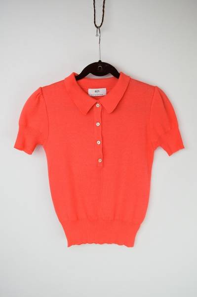 エストネーション 半袖ポロシャツ オレンジ