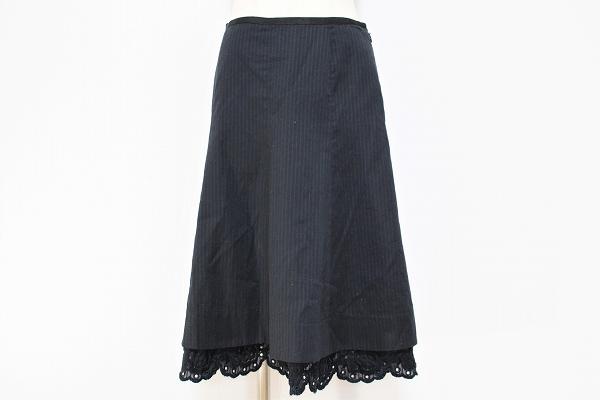 キャシャレル 刺繍フレアスカート