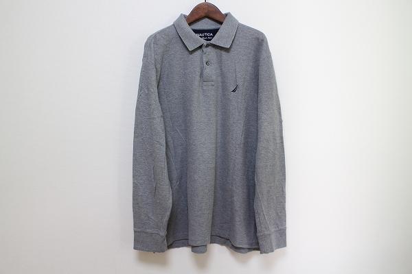 ノーティカ ロゴ刺繍長袖ポロシャツ