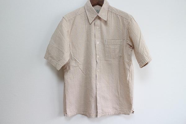 エルエルビーン コットンチェック半袖シャツ
