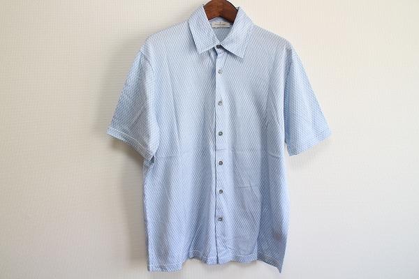 エルメネジルドゼニア ボタンコットン半袖ポロシャツ