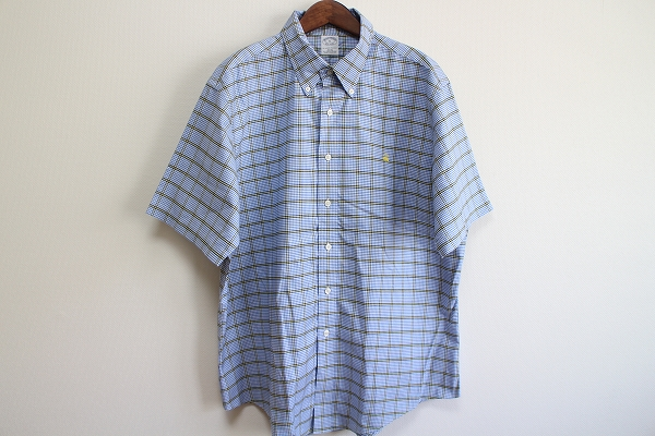 ブルックスブラザーズ ボタンダウンチェック半袖シャツ