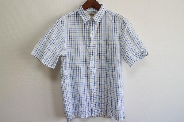エルエルビーン 吸水速乾コットンチェック半袖シャツ